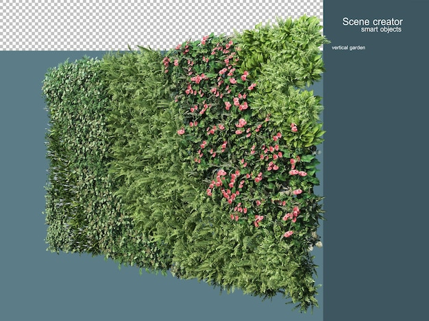 3d rendering of plant fence isolated