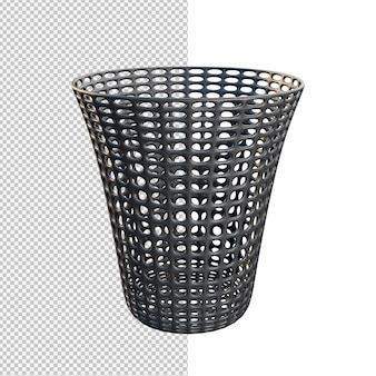 3d rendering of plastic dustbin isolated illustration
