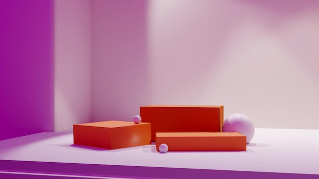 3d рендеринг дизайна подиума