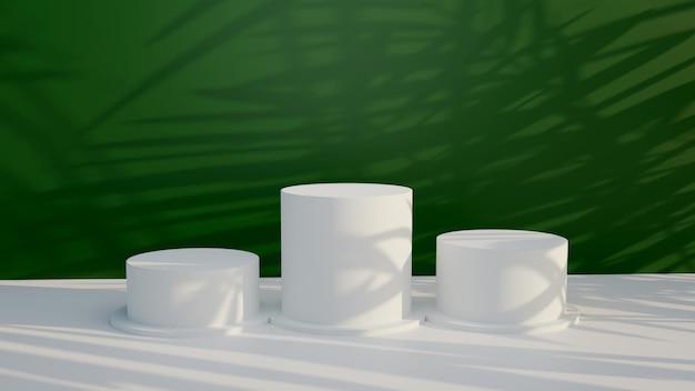 3d-рендеринг подиума для размещения продукта