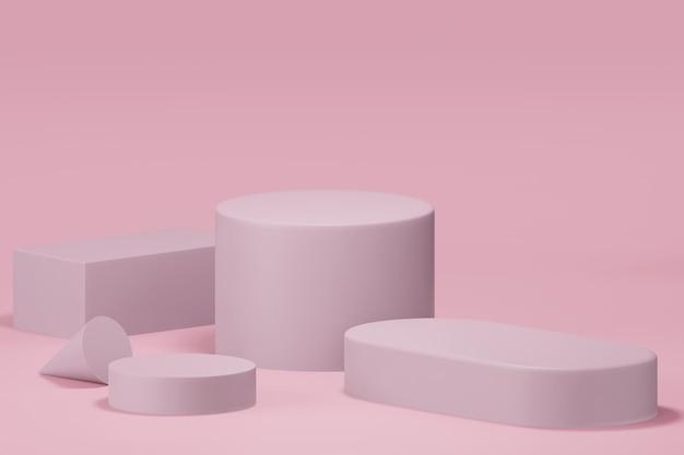 3d rendering of podium in minimal design