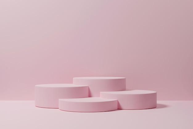 3d-рендеринг подиум-минималист для презентации продукта-10