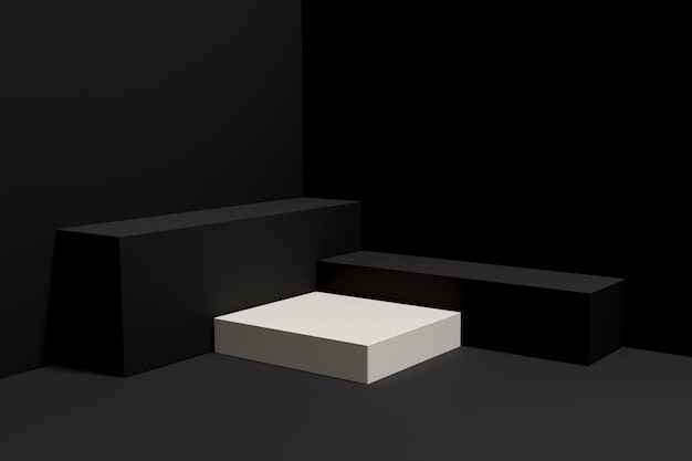 3d-рендеринг подиум-минималист для презентации продукта-4