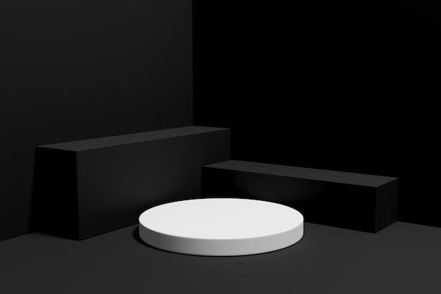 3d-рендеринг подиум-минималист для презентации продукта-5
