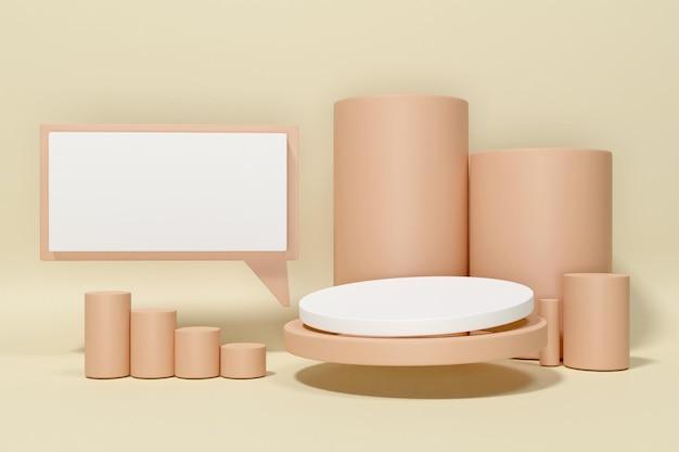 3d-рендеринг подиум-минималист для презентации продукта-6