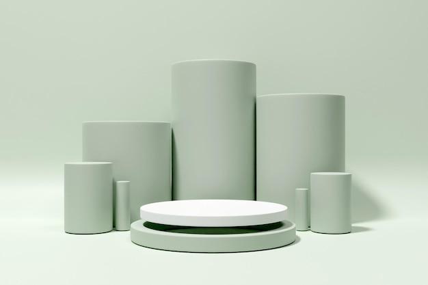 3d-рендеринг подиум-минималист для презентации продукта-7