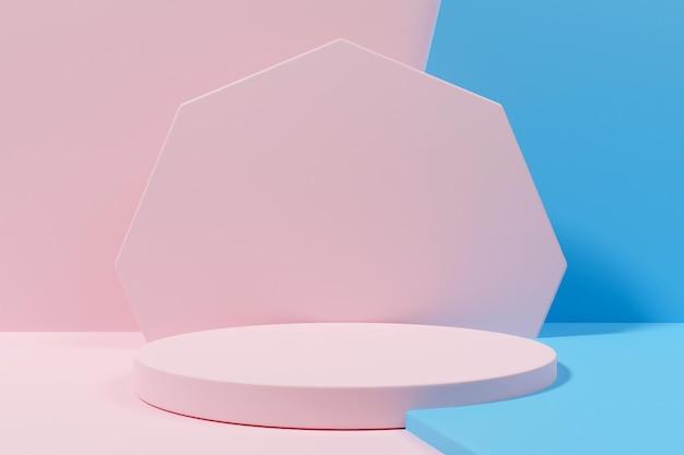 Минималистский подиум для 3d-рендеринга для презентации продукта