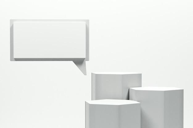 3d-рендеринг минималистский подиум с красочным фоном для презентации продукта