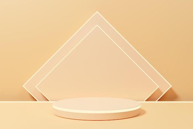 3d-рендеринг минималистский подиум с неоновым светом для презентации продукта-3