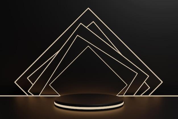 3d-рендеринг подиум-минималист с неоновым светом для презентации продукта-6