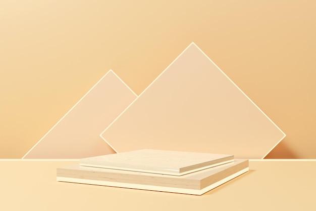 Минималистский подиум для 3d-рендеринга с неоновым светом для презентации продукта