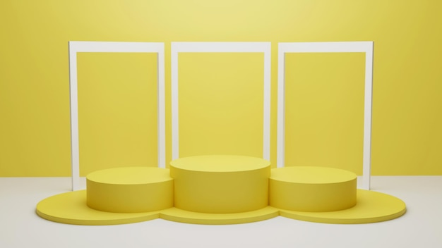 3d rendering podium for product placement