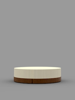 3d rendering podium with simple background