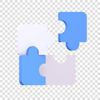 Значок головоломки 3d рендеринга