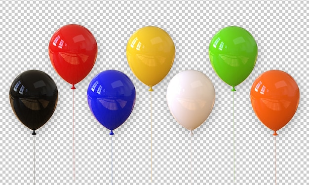 3d rendering realistic balloon isolated