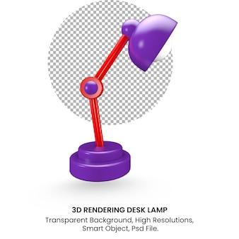 3d rendering realistic desk lamp on transparent background
