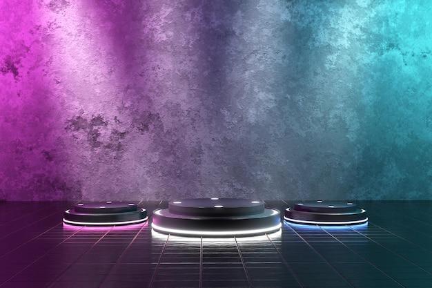 3d 렌더링 제품 디스플레이를위한 현실적인 연단