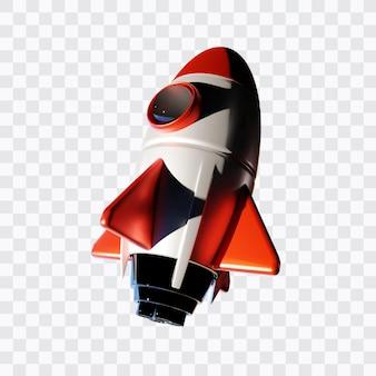 3d rendering rocket