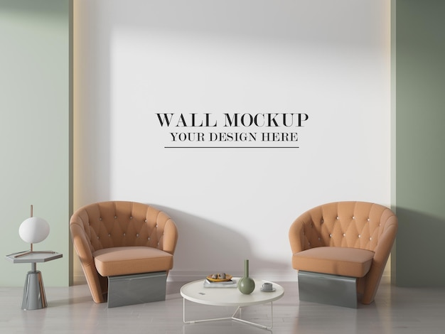 Макет стены комнаты 3d рендеринга
