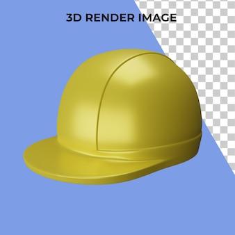 3d rendering of safety helmet premium psd