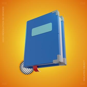 3d rendering simple book illustration