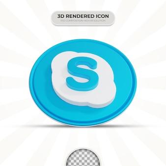 Значок skype для 3d-рендеринга