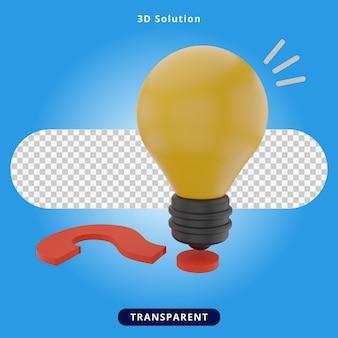 3dレンダリングソリューション、創造的なアイデアのイラスト