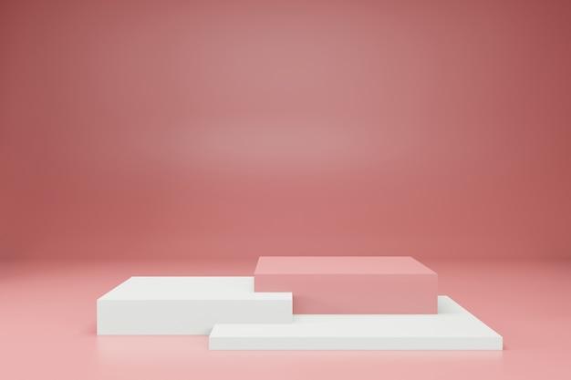 3d 렌더링 무대 디스플레이 배경 모형