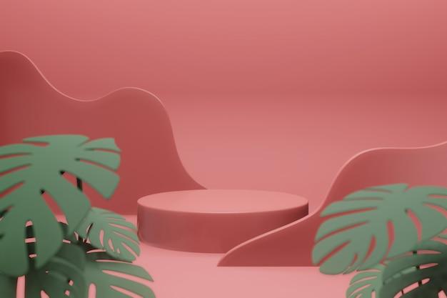 3d rendering of stage display mockup