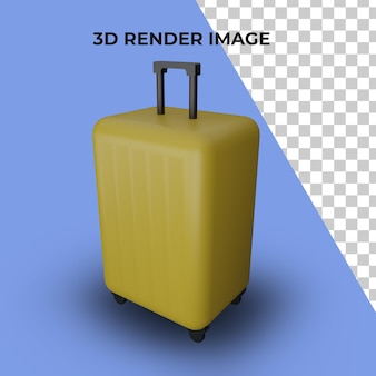 3d rendering of suitcase