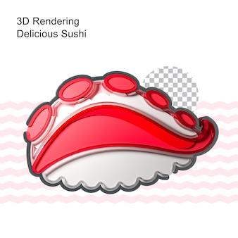 Эмалированная булавка для суши 3d-рендеринга