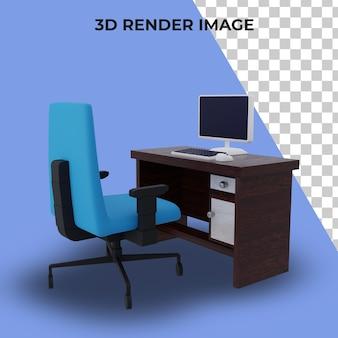 작업을 위한 3d 렌더링 테이블