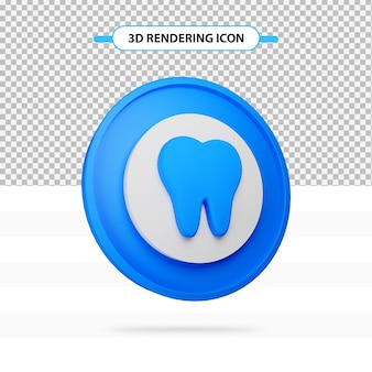 3d 렌더링 치아 고립 된 아이콘