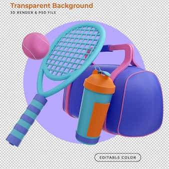 3d 렌더링 테니스 장비