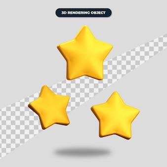 3d визуализация значок трех звезд