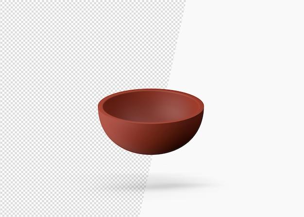 3d 렌더링 전통적인 점토 수제 그릇