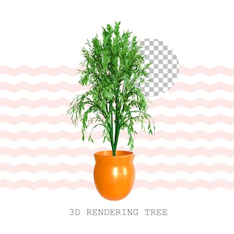 3d rendering tree pot plant
