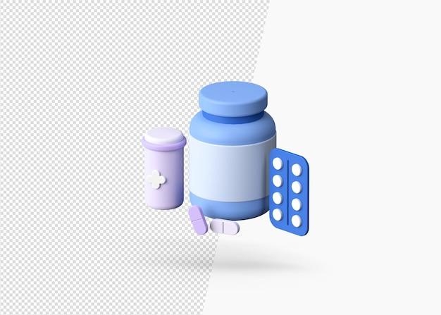 3d визуализация концепции различных наркотиков