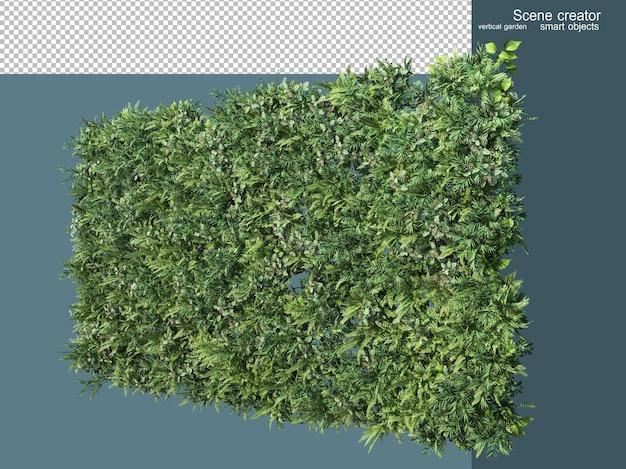3d rendering various types of grassland
