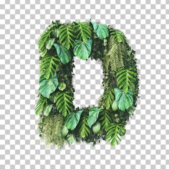 3d rendering of vertical garden alphabet (letter d)