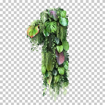 3d rendering of vertical garden number 1