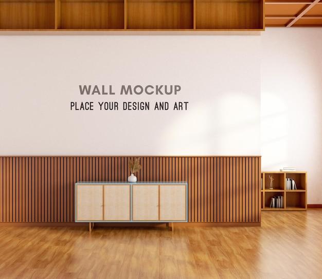 3d рендеринг стены мокап с стеновой панелью