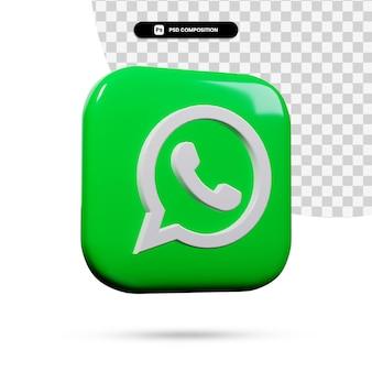 3d-рендеринг приложения логотипа whatsapp изолирован