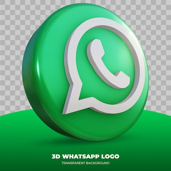 3d rendering of whatsapp logo isolated