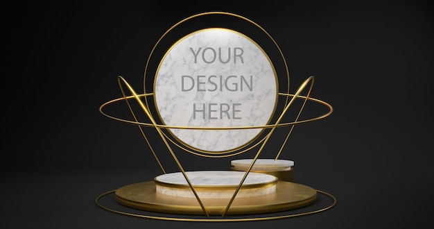 3d rendering of white marble pedestal isolated