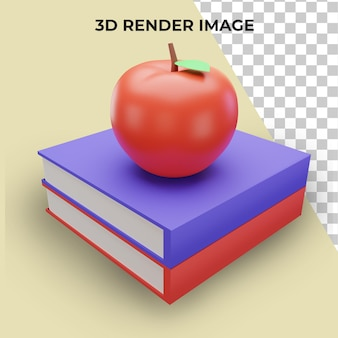 3d рендеринг с концепцией обратно в школу премиум psd