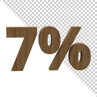 3d визуализация древесного материала символ 7 процентов