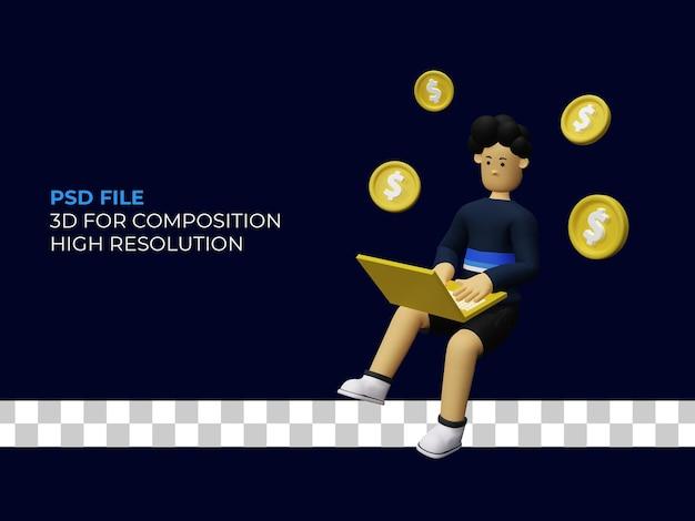 3d rendering work at home earn dollars premium psd