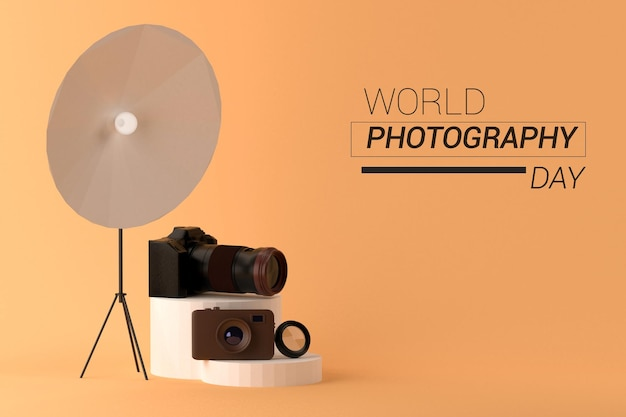 3d rendering world photography day template