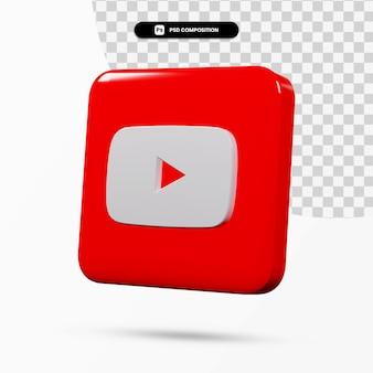 3d 렌더링 youtube 로고 응용 프로그램 격리